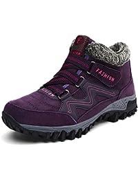 Gracosy Bottes de Neige Femme Filles, Chaussures de Sports Randonnée Hiver  en Suède Bottines Fourrées Baskets Fourrure Boots… 8980a16f15a6