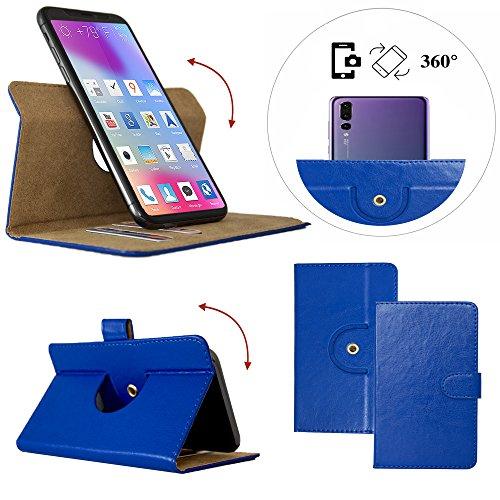 Handy Schutz Hülle | für Mobiwire Taima | 360° Drehbare Funcktion | PU Leder | - 360° Nano L Blau