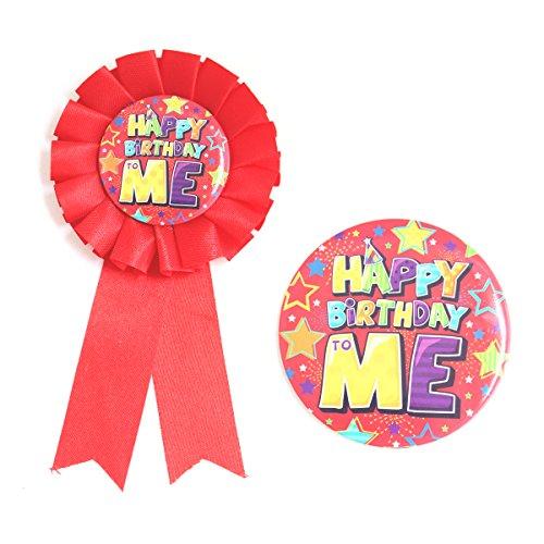 Garçon d'anniversaire Badge & Rosette de coloré pour enfants adultes en ruban bleu Star Design identité Outil