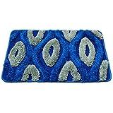 """Story@Home Diana Premium Cotton Blend Door Mat - 16""""x24"""", Blue"""