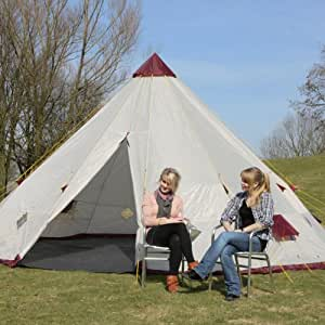 Skandika Tipii 300 12 Man Tipi Tent: Amazon.co.uk: Sports