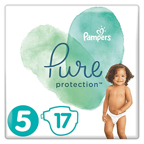 Pampers Pure Protection Windeln, Größe 5, 17 Windeln,  11kg+, Tragepack