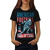 wellcoda Américain Football Sport Femme T-Shirt