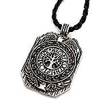 Miss–E–JEWELS–Collar con colgante plateado envejecido para árbol de mundo nórdico Viking Yggdrasil druida Árbol de la vida Talisman Rune eslavo celta 5