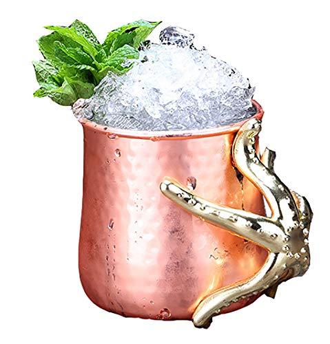 Lm vino in acciaio inox bicchieri, bicchieri in metallo calici forma di stella marina, articoli per la casa ristorante