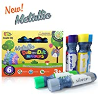 Dab and Dot Markers Superboy Shimmer Washable Paint Art Dauber Markers in Silver, Red, Orange, Blue, Green by Dab and Dot Markers