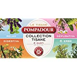 Pompadour - Tisana 4 Gusti Relax, Digestiva, Depurativa, 6 Erbe, Bustine Da 2 G - 20 Bustine