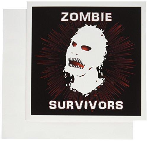 3dRose gc_25035_1 Iicon Zombie Survivors Grußkarten, 15,2 x 15,2 cm, 6 Stück