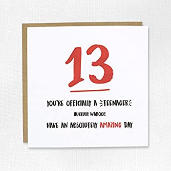 Happy 13th Birthday Card Thirteen 13 Son Daughter Niece Nephew