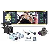 WOVELOT 4019B 1 DIN HD Bildschirm Autoradio 4.1 Bluetooth MP5 Player mit Rueckfahrkamera Unterstuetzung FM AUX USB/TF Lenkradsteuerung