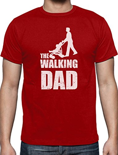 Maglietta the walking dad–divertente idea regalo per festa del papà o compleanno, da uomo red small