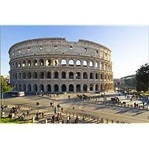 Cuadro sobre lienzo 30 x 20 cm: Roma coliseum place de Vincent Xeridat - cuadro terminado, cuadro sobre bastidor, lámina terminada sobre lienzo auténtico, impresión en lienzo