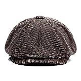 Shuo lan Männer und Frauen allgemein Frühling und Herbst und Winter Plaid verdickt Barett Plaid Classic Retro Hut. !