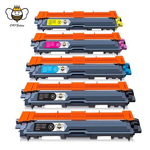 CMYBabee TN241 TN245 Cartucce toner,sostituzione per Brother TN-241 TN-245 compatibili con Brother DCP-9020CDW DCP-9015CDW HL-3140CW HL-3150CDW HL-3170CDW MFC-9140CDN MFC-9330CDW MFC9340CDW(5-Pacco)