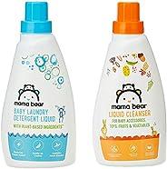 Amazon Brand - Mama Bear Plant Based Baby Laundry Detergent & Liquid Cleanser Combo - 50