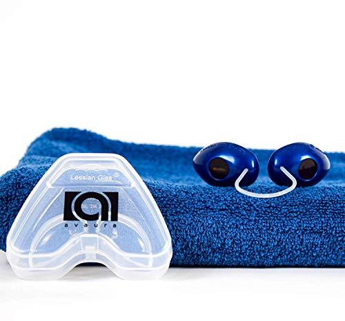 Premium Solarium Schutzbrille von Avaura mit verbessertem Konzept [2019] - inklusive Aufbewahrungsbox - Perfektes Sonnenbaden ohne Bräunungsstreifen - Geprüfte Uv Brille gemäß EN170