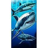 KAUFMAN - tiburones de la playa, baño, piscina, Sauna toalla. (105069) perfecto para puesta ...