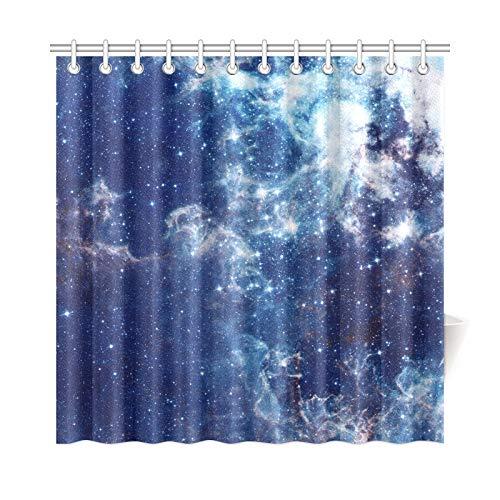 (JSXMNA Home Decor Bad Vorhang Galaxy Mit Sternen Nebel Cosmos Wolken Polyester Gewebe Wasserdicht Duschvorhang Für Badezimmer, 72 X 72 Zoll Duschvorhänge Haken Enthalten)
