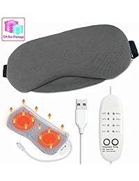 Masque pour les yeux chauffant, masque USB pour yeux chauds avec vapeur pour  les yeux 4d6474f092ae