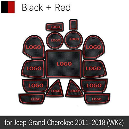TAYDMEO 15 Pezzi/Set Adesivi Antisdrucciolo in Gomma con Rivestimento Antiscivolo, per Jeep Grand Cherokee WK2 2011 2012 2013 2014 2015 2016 2017 2018 2018
