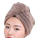 Nibesser Haarturban Trocken Handtuch Mikrofaser Kopftuch Haar Trockner 23x60cm