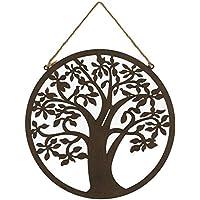 Mural Árbol de la Vida de Metal marrón Oriental para decoración de Exterior ...