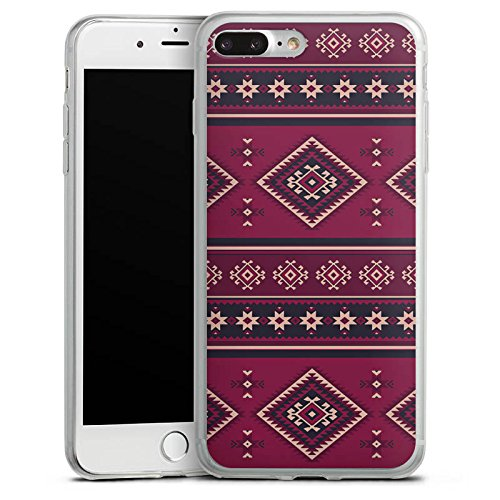 Apple iPhone 8 Slim Case Silikon Hülle Schutzhülle Ethno Muster Indianer Silikon Slim Case transparent