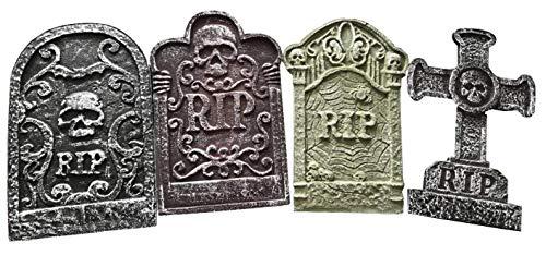 8 X Grabsteine Grab Grabsteine Sicke Halloween-Party Polystyrol 55cm Dekorationen Requisite