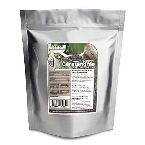 Nurafit Gerstengras Tabletten - 1000g / 1kg - reich an Vitaminen, Mineralstoffen und Spurenelementen - fitness supplements für gesunde Ernährung, Diät und Detox Entschlackung