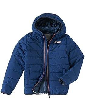 Bench Jacke Wasserabweisende Jacke mit Bench-Print auf der Brust Estate Blue 13-14