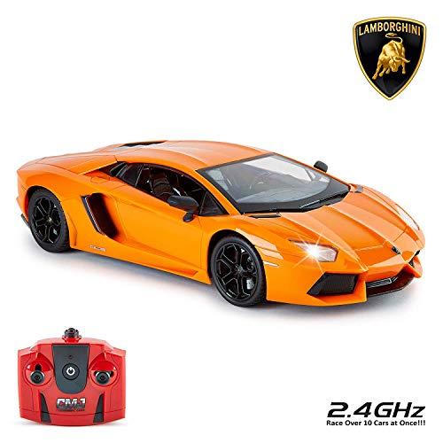CMJ RC Cars Offiziell Lizenziert Fernbedienung Lamborghini in 30cm Größe 1:14 Maßstab in Lambo Orange
