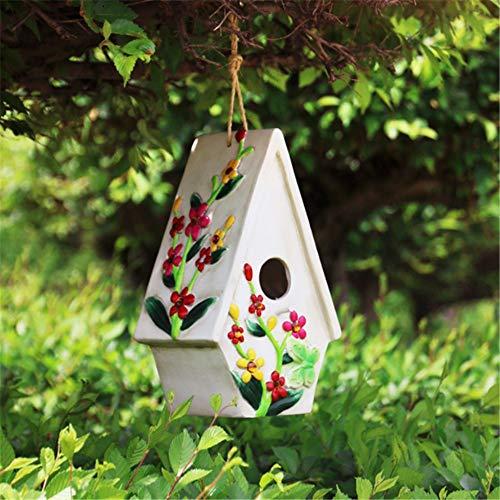 Yuefensu Pajarera Creative Bird House Decoración Al Aire Libre Selection Niños Vintage Crafts Country...
