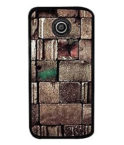 Motorola Moto E2, Motorola Moto E Dual SIM (2nd Gen), Motorola Moto E 2nd Gen 3G XT1506, Motorola Moto E 2nd Gen 4G XT1521 Back Cover Brown Bricks Design From FUSON