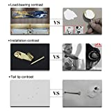 WinArrow 130 Pieces Picture Hangers Hooks Heavy Duty Picture Hanging Kit with Nails for Wall Mounting 10-100 lbs Pack Golden