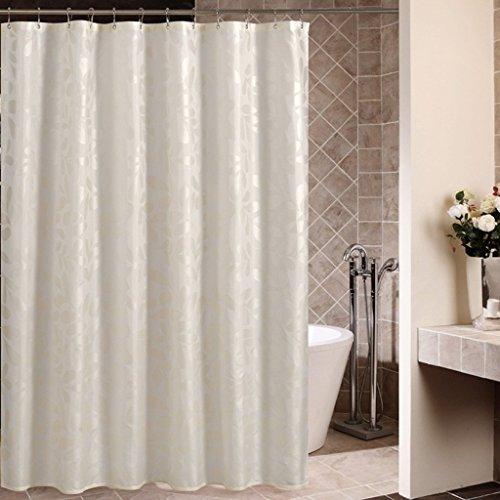 Wghz Duschvorhang für Badezimmer | Blasses Gold Digital Print | Wasserdicht | Schimmel | rutschfest | Nicht verschmutzen Nicht verblassen mit 12 Haken (Größe: 180x180cm) -