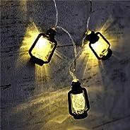KharidoLive 16 LED Black Lantern Fairy String Lights for Home Decoration | Festival Decor Lights Diwali Christ