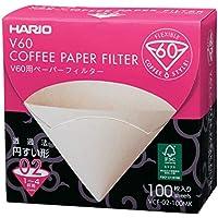 Hario VCF-02-100MK Filter-Papier für 02Tropfer Misarashi, 1 Box