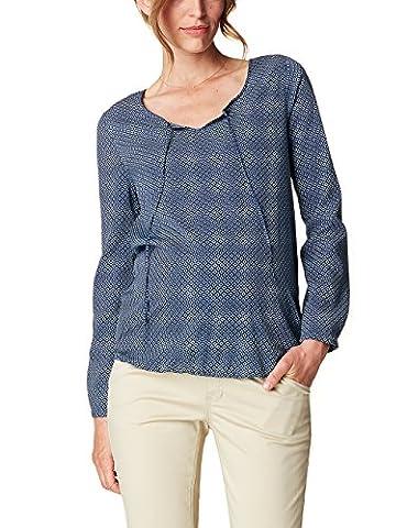ESPRIT Maternity Damen Regular Fit Umstands Bluse Blouse ls aop,Mehrfarbig (night Blue 486),42EU (Langarm Schwangerschafts-tunika)
