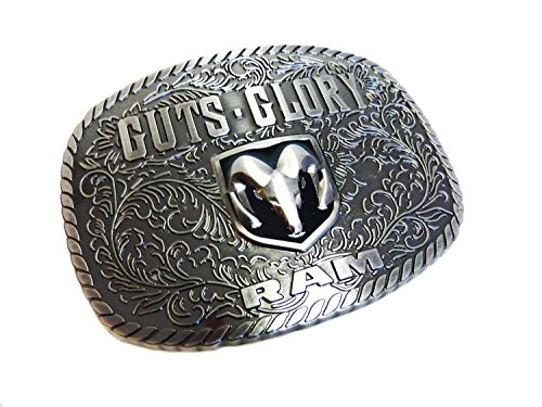 Gürtelschnalle Guts & Glory Dodge Ram Gürtelschnalle Gürtelschließe Western Belt Buckle Westerngürtelschnalle Rodeo Vintage Silber - Rodeo Western Gürtelschnalle