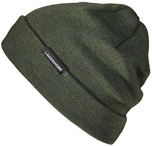 Lakeshore® Warme Wintermütze, Feinstrick-Beanie Damen und Herren, 100% Merino-Wolle