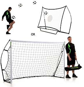 QUICKPLAY Kickster Combo 8 x 5' Football Goal & Rebounder