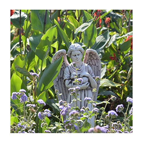 Nwn Engel Statue Outdoor Ornament Dekoration, 33,5 Zoll hoch, aus Harz (Color : C)