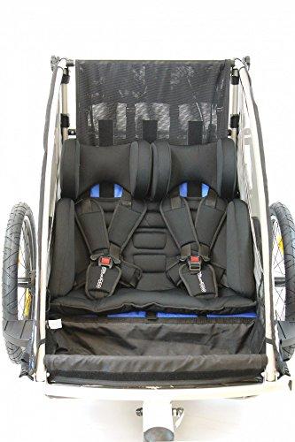 Sitzpolster Babysitz für Qeridoo Fahrradanhänger Sportrex2, Speedkid2, KidGoo2 - 5