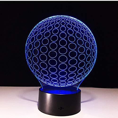 Golf 3D LED Nachtlichter Kreis Ball aus Acryl Tischlampe Wohnzimmer Schlafzimmer Exquisite Geburtstagsgeschenk für Kinder