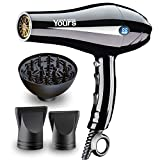 Yours Professional Hair Dryer 2300W LED Temperature Display Salon Blow Dryer AC Motor