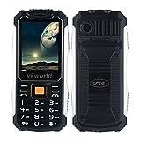 VKworld Stone V3S diario impermeable a prueba de polvo Shcokproof espera largo Fuera de telefonía móvil GSM de 2,4 pulgadas de doble ranura SIM Bluetooth teclado el botón grande de la linterna LED dual