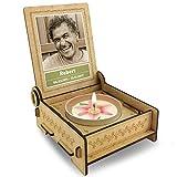 FANS & Friends TROSTLICHT   Trauerkerze in Holz-Box mit Spruch   personalisiert mit Foto & mit Namen   Erinnerungskerze statt Trauerkarte   Trostgeschenk   Trauerkerze mit Spruch