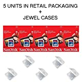 Lot of 5 SanDisk 16GB SD SDHC Class 4 Flash Memory Camera Card SDSDB-016G-B35 Pack 5 Jewel Cases ...