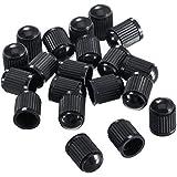 Outus Tappi antipolvere per valvole di pneumatici di auto, moto, autocarri e bicicletta, in plastica, neri, confezione da 20
