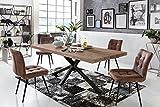 Sit Möbel Tische Tisch 220x100 cm, Balkeneiche Natur geölt Platte Balkeneiche, Gestell Eisen L = 220 x B = 100 x H = 76,5 cm Platte Natur, Gestell antikschwarz